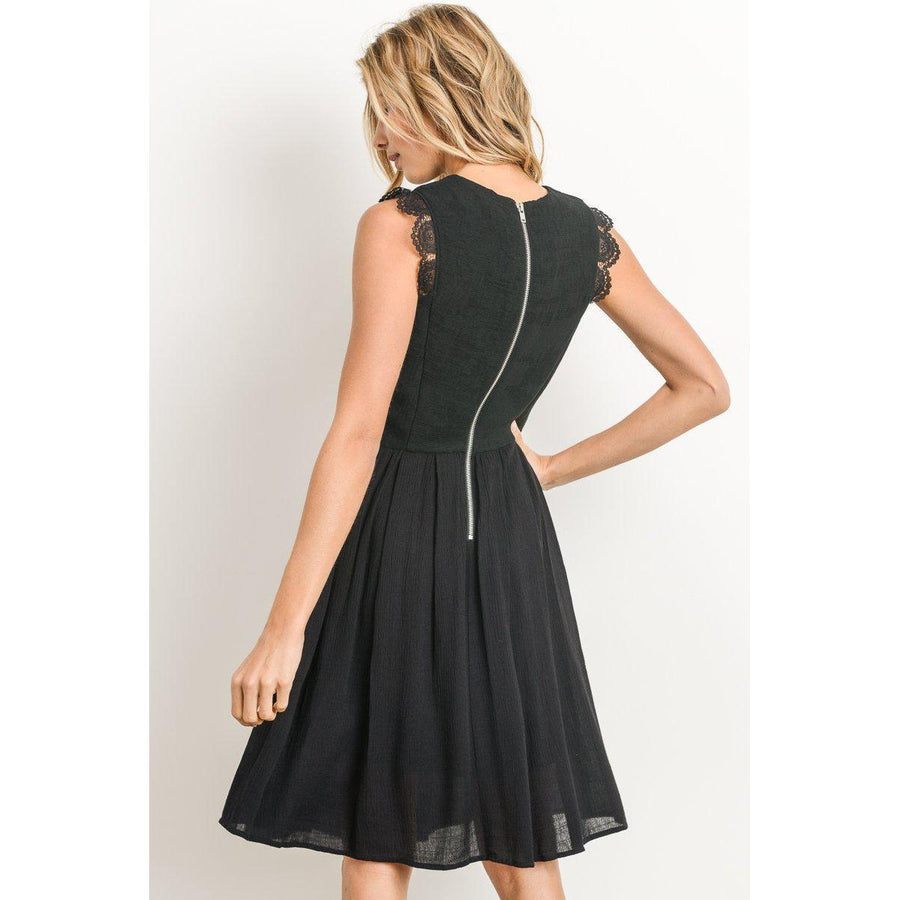 Black Beauty Little Black Dress-Dress-Composed Rose
