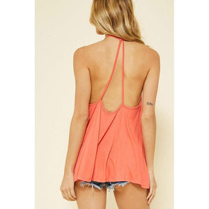 Bound for Paradise Coral Tank-Tops-Composed Rose