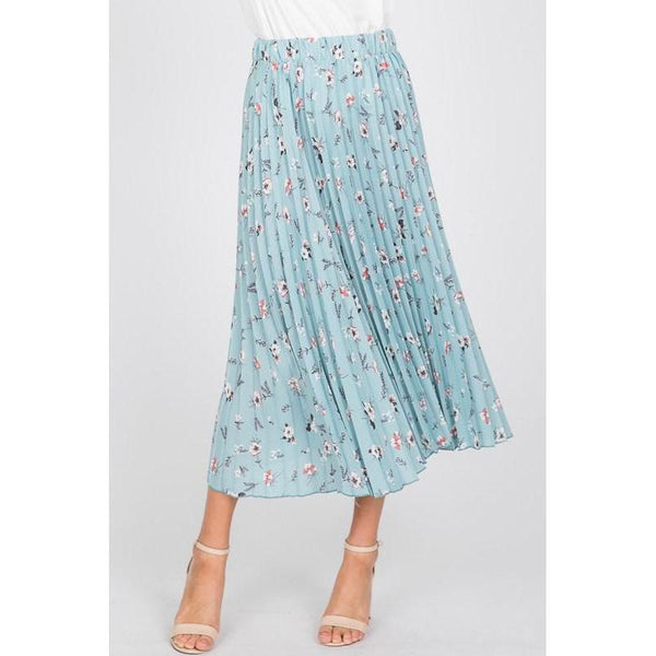 Breath of Fresh Air Pleated Skirt-Skirt-Composed Rose