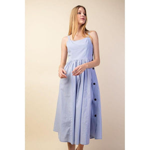 Cute as a Button Midi Dress-Dress-Composed Rose