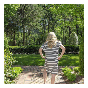 Different Dimensions Striped Dress-Dress-Composed Rose