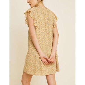 Dreaming In Country Fields Mini Dress-Dress-Composed Rose