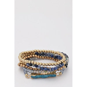 Druzy Stone Multi Stretch Bracelets-bracelet-Composed Rose
