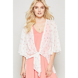 Floral Everyday Kimono-Kimono-Composed Rose