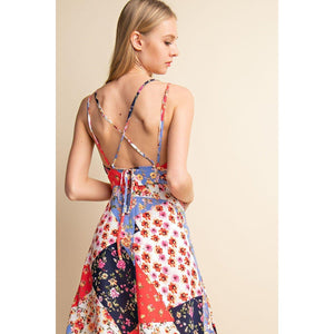 Floral Seas Of Patchwork Dress-Dress-Composed Rose