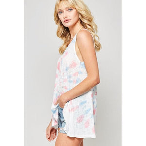 Good Vibes Only Tie-Dye Tank Top-Tops-Composed Rose