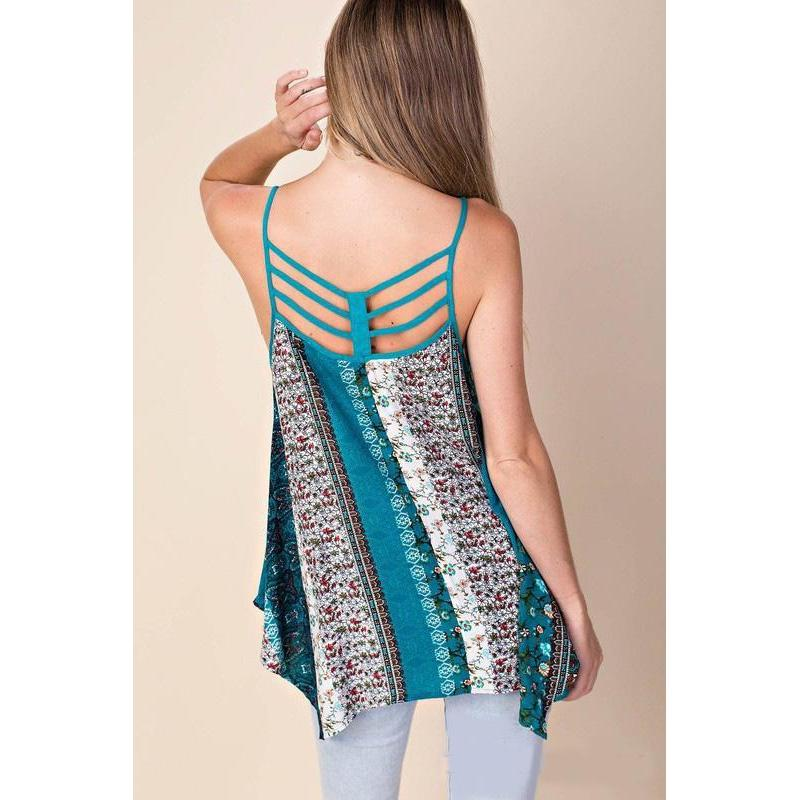 Gypsy Girl Asymmetrical Top-Top-Composed Rose