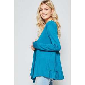 Hard to Forget Ruffle Cardigan-Cardigan-Composed Rose
