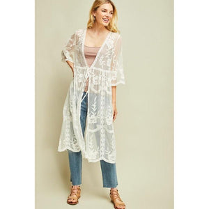 It's All About that Lace Kimono-Kimono-Composed Rose