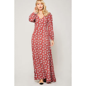 Botanical Goddess Floral Maxi Dress