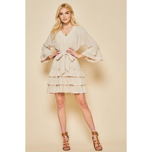 Just The Little Things Ruffled Dress-Dress-Composed Rose