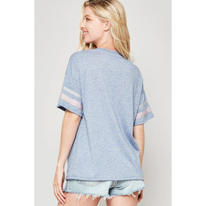 Let's Play Ball Varsity T-Shirt-Top-Composed Rose