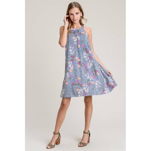 No Need to Settle Halter Dress-Dress-Composed Rose