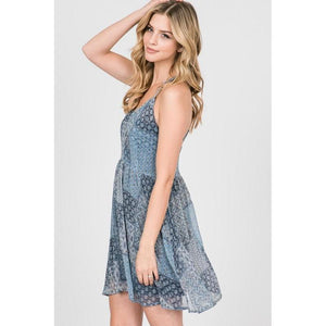 Not Your Grandmother's Patchwork Mini Dress-Dress-Composed Rose