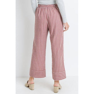 Ramblin' Rose Pinstripe Ankle Pant-Pants-Composed Rose