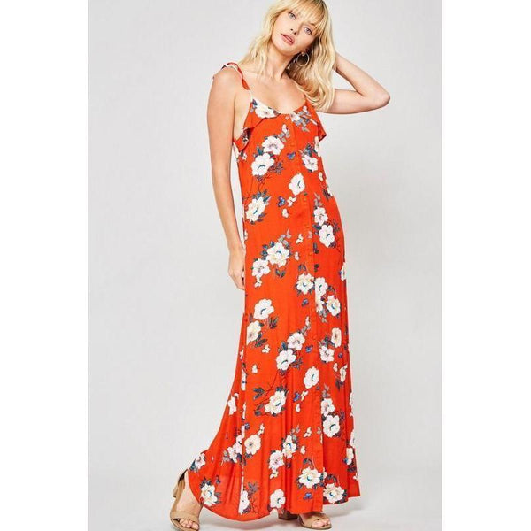Ready in Red Maxi Dress-Dress-Composed Rose