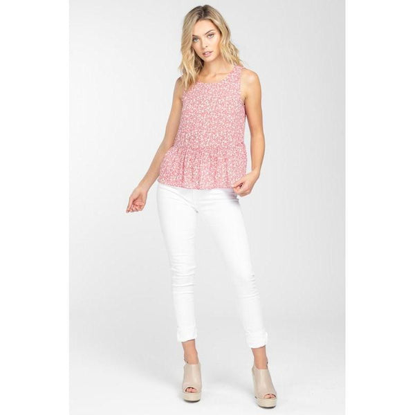 Simply Primrose Peplum Top-Tops-Composed Rose