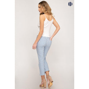 Sky is the Limit Ankle Pants-Pants-Composed Rose