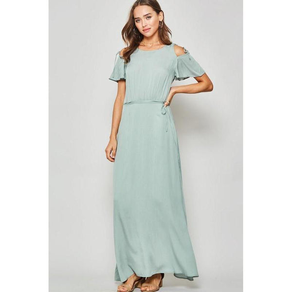 So Sweetly Sage Maxi Dress-Dress-Composed Rose