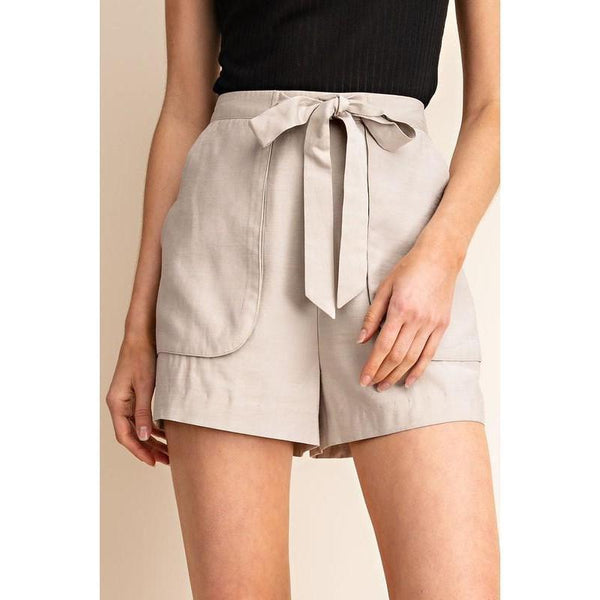 Southern Safari Khaki Shorts-Shorts-Composed Rose
