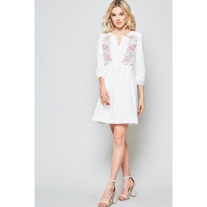 Springtime Rose Mini Dress-Dress-Composed Rose
