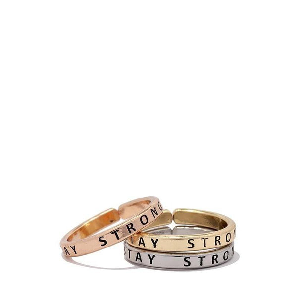 Stay Strong Ring Set-Ring-Composed Rose