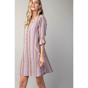 Sunsets and Sangria Shirt Dress-Dress-Composed Rose