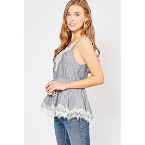 Sweet and Sassy Camisole Top-Tops-Composed Rose