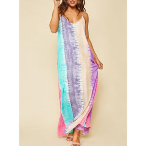 Tie-Dye Way Of Life Maxi Dress-Dress-Composed Rose