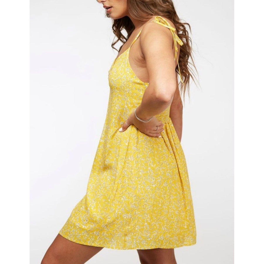 Walking On Sunshine Mini Dress-Dress-Composed Rose