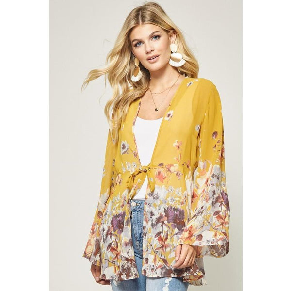 Wild for Wildflowers Kimono-Kimono-Composed Rose