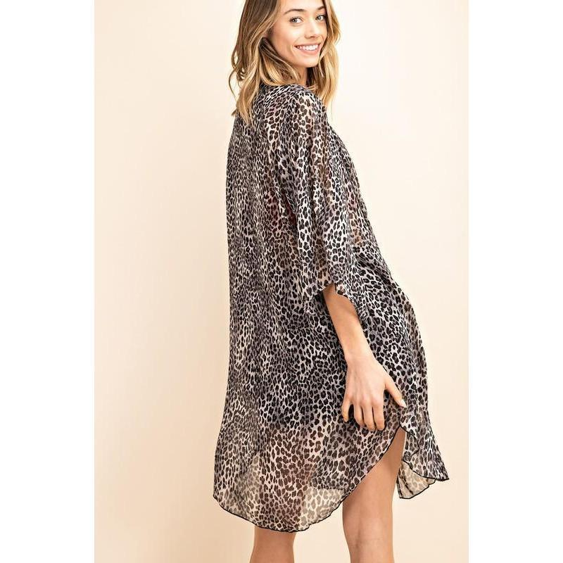 You Will Be Spotted Leopard Kimono-Kimono-Composed Rose