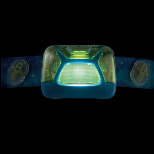 TIKKID® Compact headlamp for children. Glow in the dark feature.