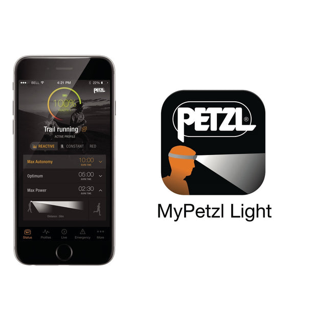 PETZL REACTIK +  Rechargeable, Programmable Headlamp with Reactive Lighting | 300 LM