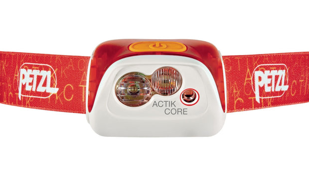 PETZL ACTIK CORE Rechargeable, multi-beam headlamp with red lighting | 350 LM