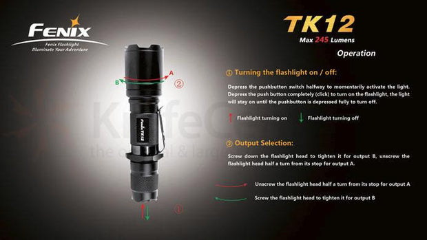 Fenix TK12 (R5) Variable Output Tactical LED Flashlight | 245 LM