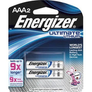 Energizer AAA Lithium Batteries (2) Pack