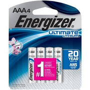 Energizer AAA Lithium Batteries (4) Pack