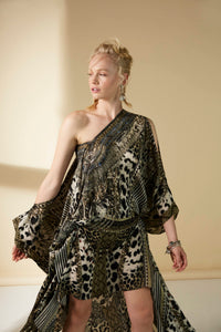 Split Front Kaftan  | Winged Grecian