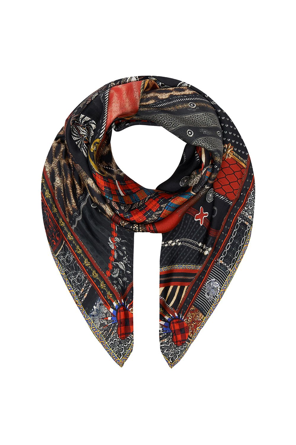 LARGE SQUARE SCARF LONDON CALLING