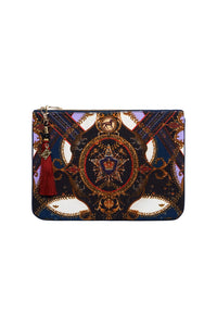SMALL CANVAS CLUTCH SOLID NAVY