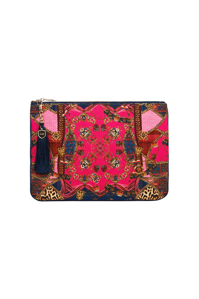 SMALL CANVAS CLUTCH DINING HALL DARLING