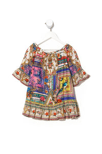 KIDS A-LINE FRILL DRESS 4-10 PARTY IN THE PALACE