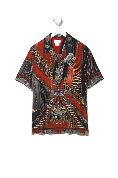 SHORT SLEEVE CAMP COLLARED SHIRT LONDON CALLING