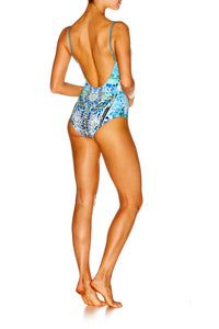 LEAVE ME WILD WIRED V-NECK ONE PIECE