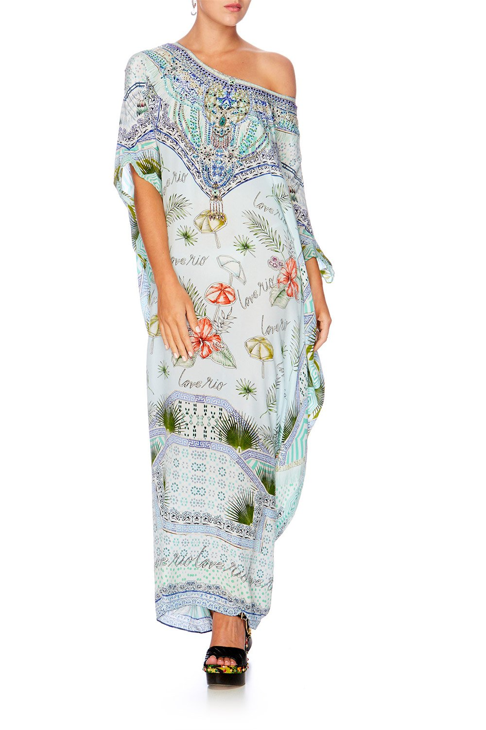 SHADES OF RIO ROUND NECK KAFTAN