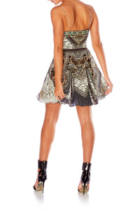 THE BODYGUARD SHORT DRESS W TIE FRONT