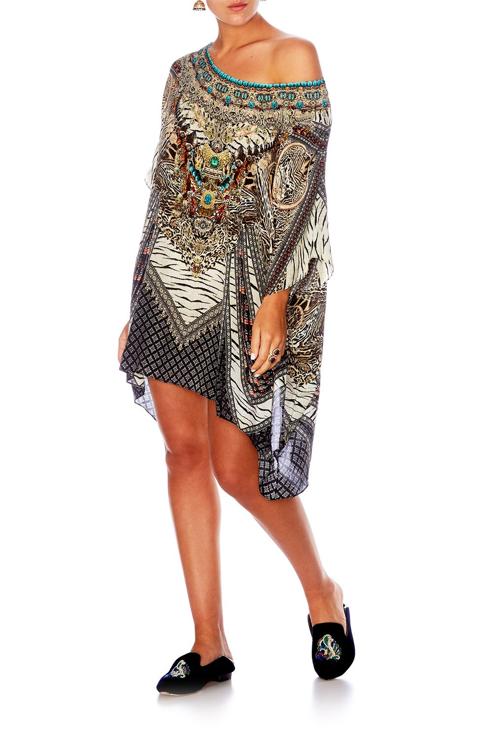THE BODYGUARD SHORT ROUND NECK KAFTAN