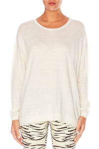 THE BODYGUARD JUMPER W CONTRAST BACK
