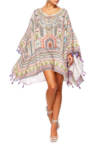 CAMILLA LADY LAKE GATHERED HEM SHORT KAFTAN